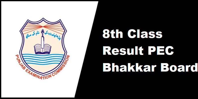 8th Class Result PEC Bhakkar Board