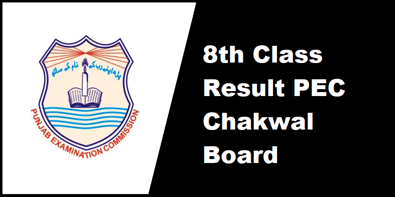 8th Class Result PEC Chakwal Board