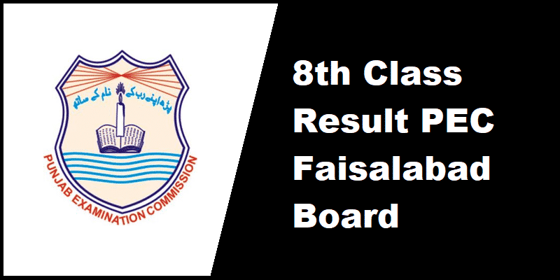 8th Class Result PEC Faisalabad Board