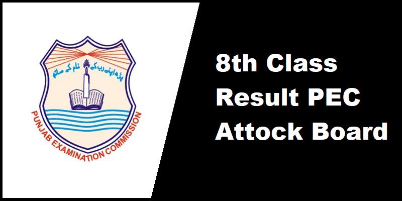 8th Class Result PEC Attock Board
