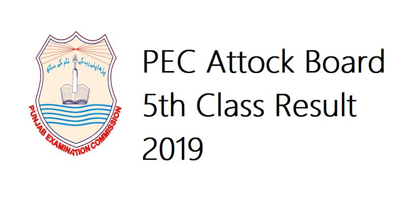 PEC Attock Board 5th Class Result