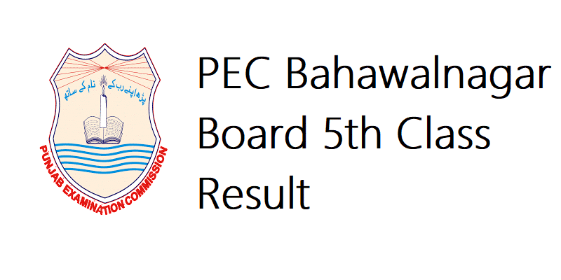 PEC Bahawalnagar Board 5th Class Result