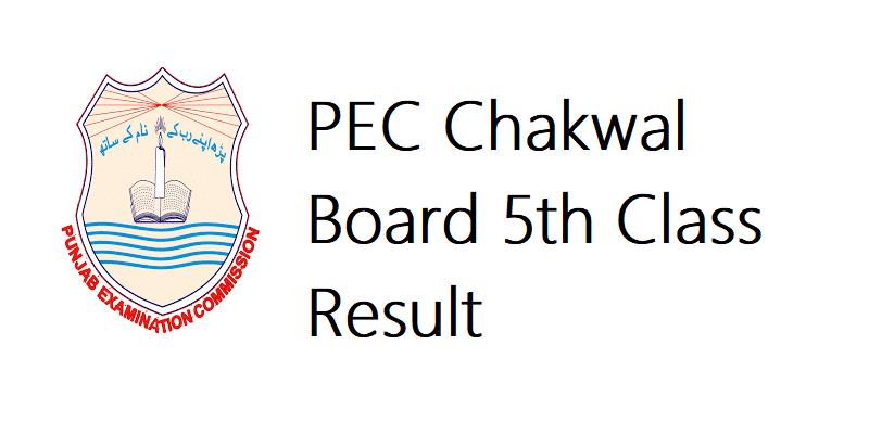 PEC Chakwal Board 5th Class Result