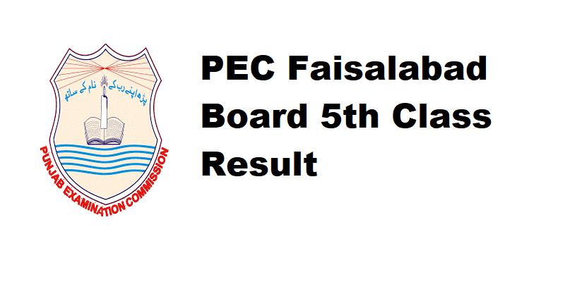 PEC Faisalabad Board 5th Class Result