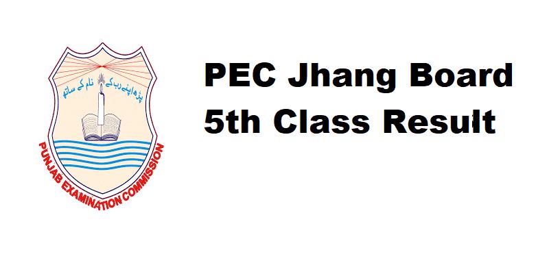 PEC Jhang Board 5th Class Result