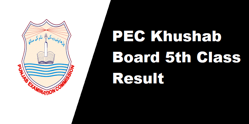PEC Khushab Board 5th Class Result