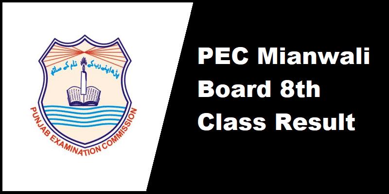 PEC Mianwali Board 8th Class Result