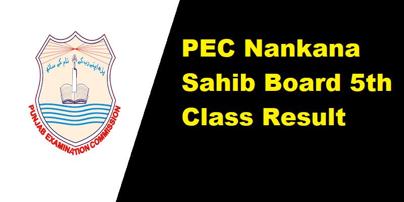 PEC Nankana Sahib Board 5th Class Result