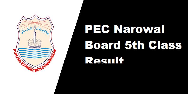 PEC Narowal Board 5th Class Result